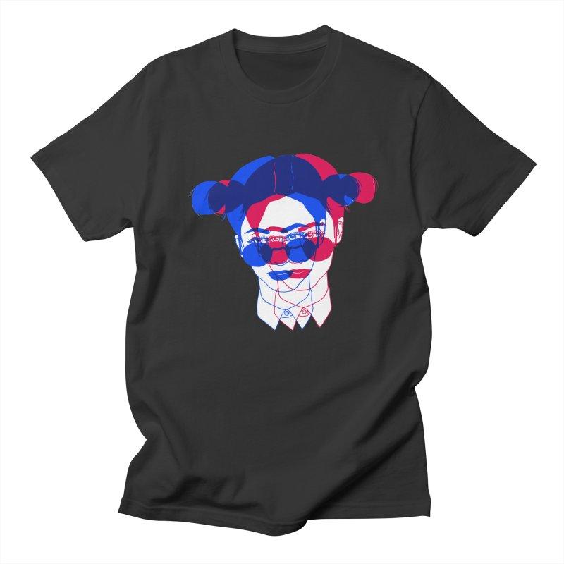 space bun girl Men's T-Shirt by Earthtomonica's Artist Shop