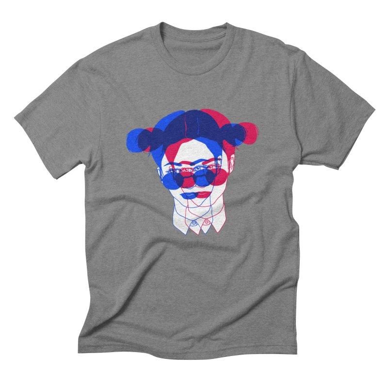 space bun girl Men's Triblend T-shirt by Earthtomonica's Artist Shop