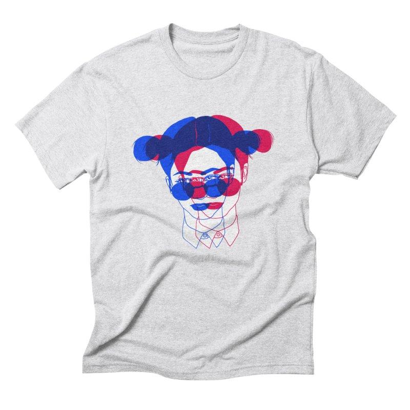space bun girl Men's Triblend T-Shirt by EarthtoMonica
