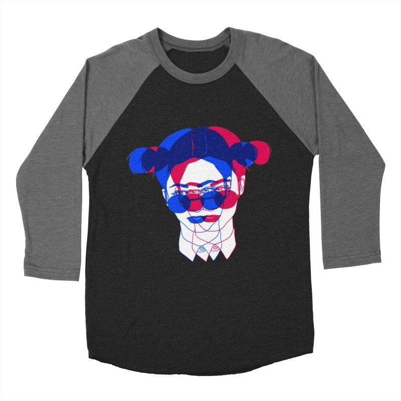 space bun girl Men's Baseball Triblend Longsleeve T-Shirt by Earthtomonica's Artist Shop