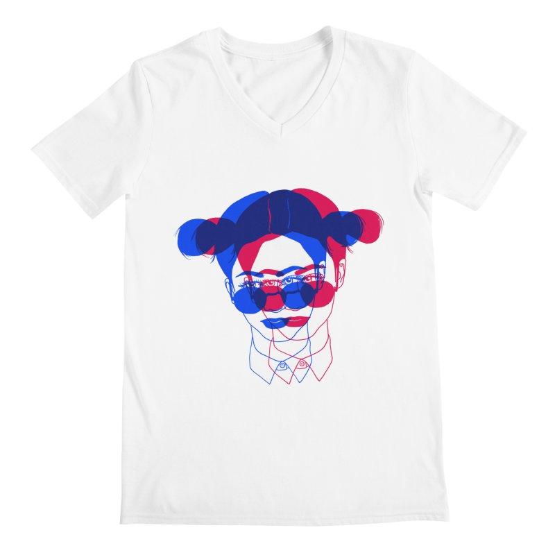 space bun girl Men's V-Neck by Earthtomonica's Artist Shop