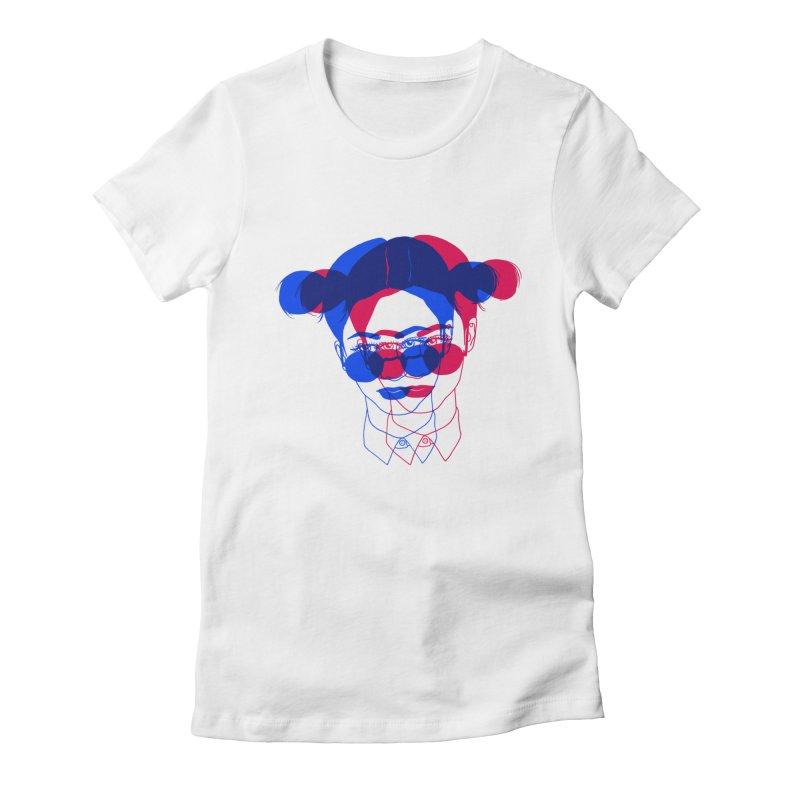 space bun girl Women's Fitted T-Shirt by EarthtoMonica