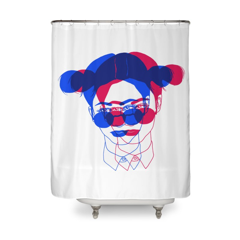 space bun girl Home Shower Curtain by Earthtomonica's Artist Shop
