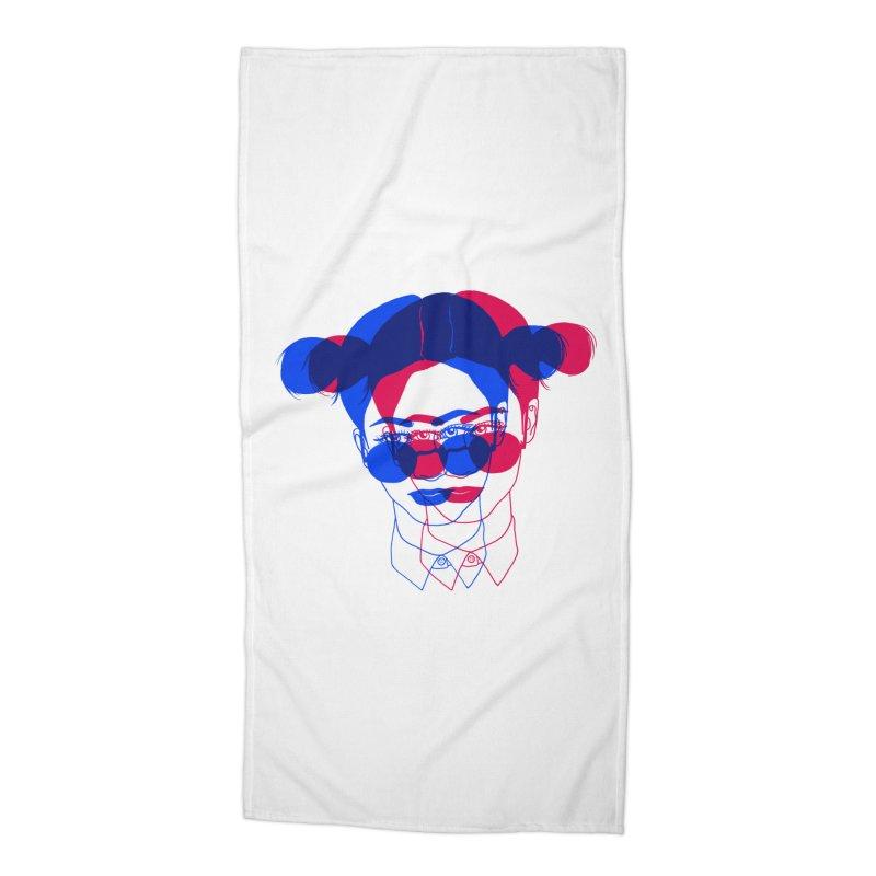 space bun girl Accessories Beach Towel by Earthtomonica's Artist Shop