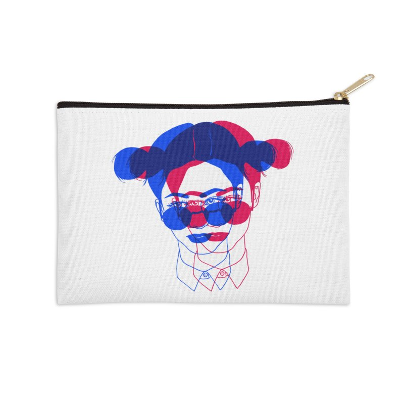 space bun girl Accessories Zip Pouch by Earthtomonica's Artist Shop