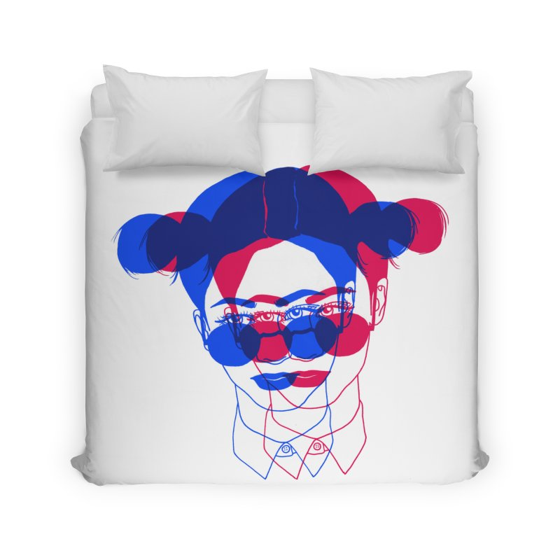 space bun girl Home Duvet by Earthtomonica's Artist Shop