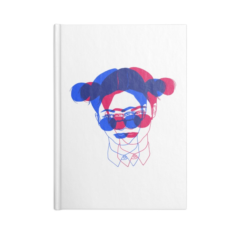 space bun girl Accessories Lined Journal Notebook by EarthtoMonica