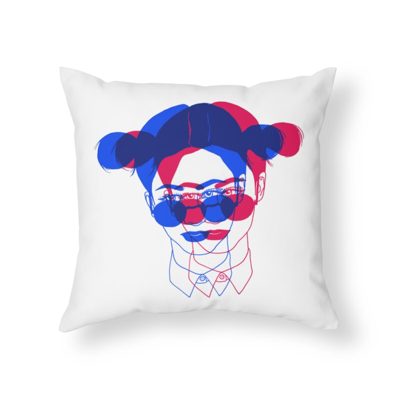 space bun girl Home Throw Pillow by Earthtomonica's Artist Shop