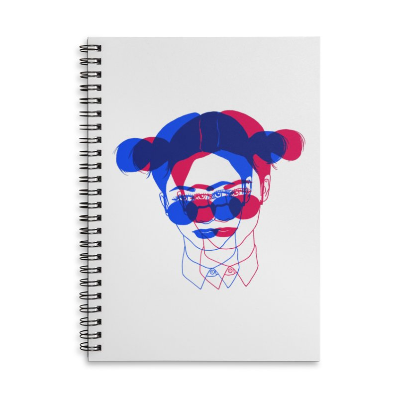 space bun girl Accessories Lined Spiral Notebook by EarthtoMonica