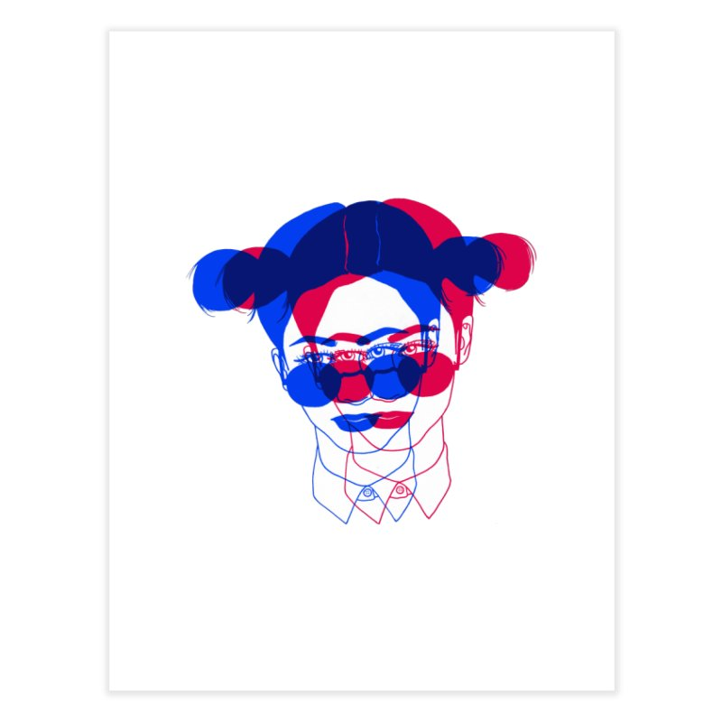 space bun girl Home Fine Art Print by EarthtoMonica