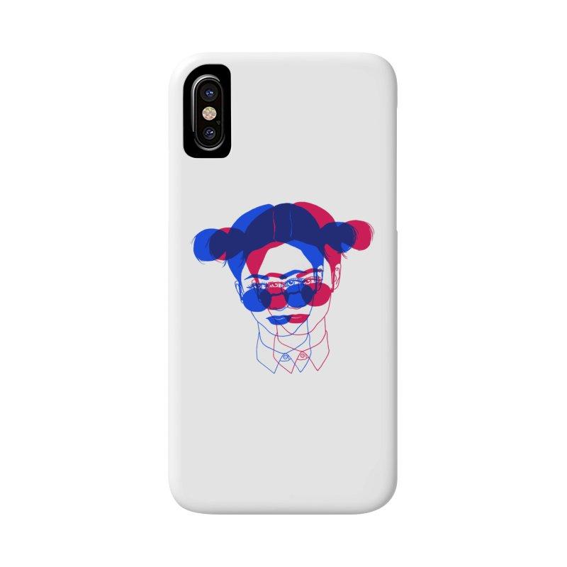 space bun girl Accessories Phone Case by Earthtomonica's Artist Shop