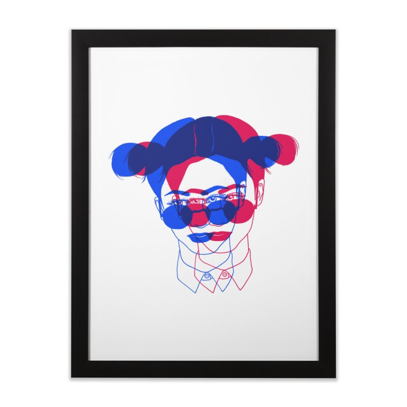 space bun girl Home Framed Fine Art Print by Earthtomonica's Artist Shop