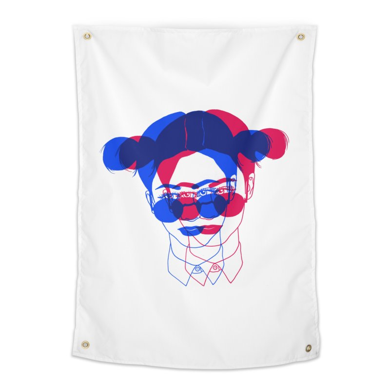 space bun girl Home Tapestry by EarthtoMonica