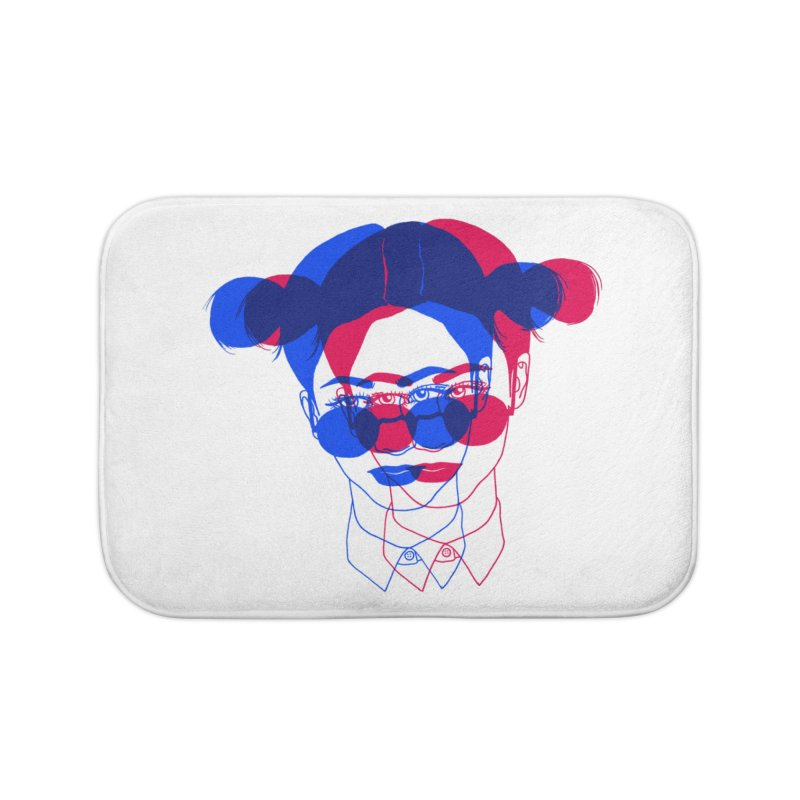 space bun girl Home Bath Mat by EarthtoMonica