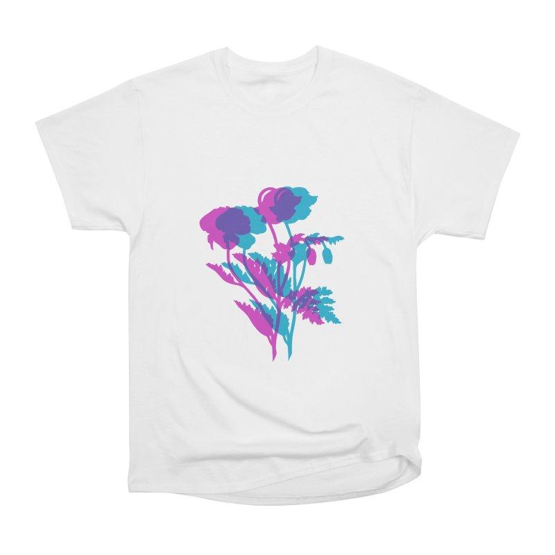 poppies Men's Heavyweight T-Shirt by EarthtoMonica