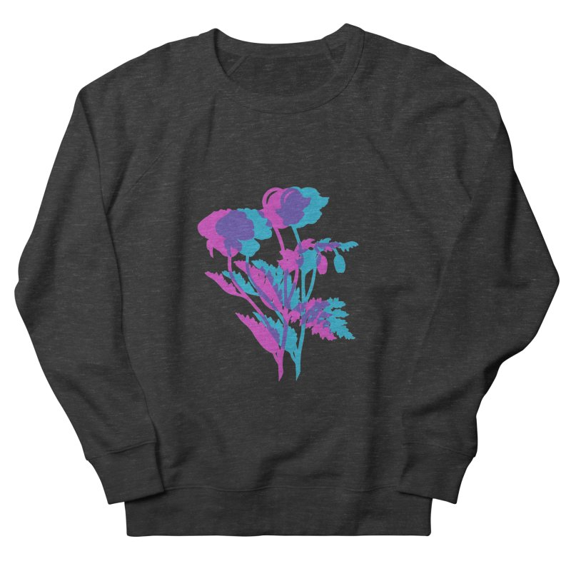 poppies Women's French Terry Sweatshirt by EarthtoMonica