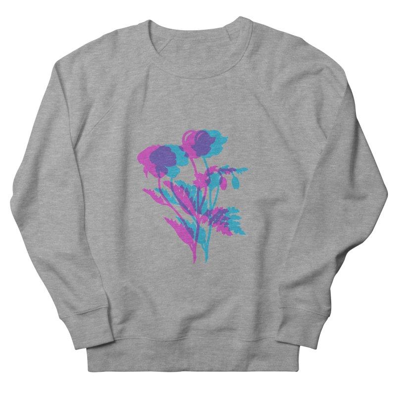 poppies Women's French Terry Sweatshirt by Earthtomonica's Artist Shop