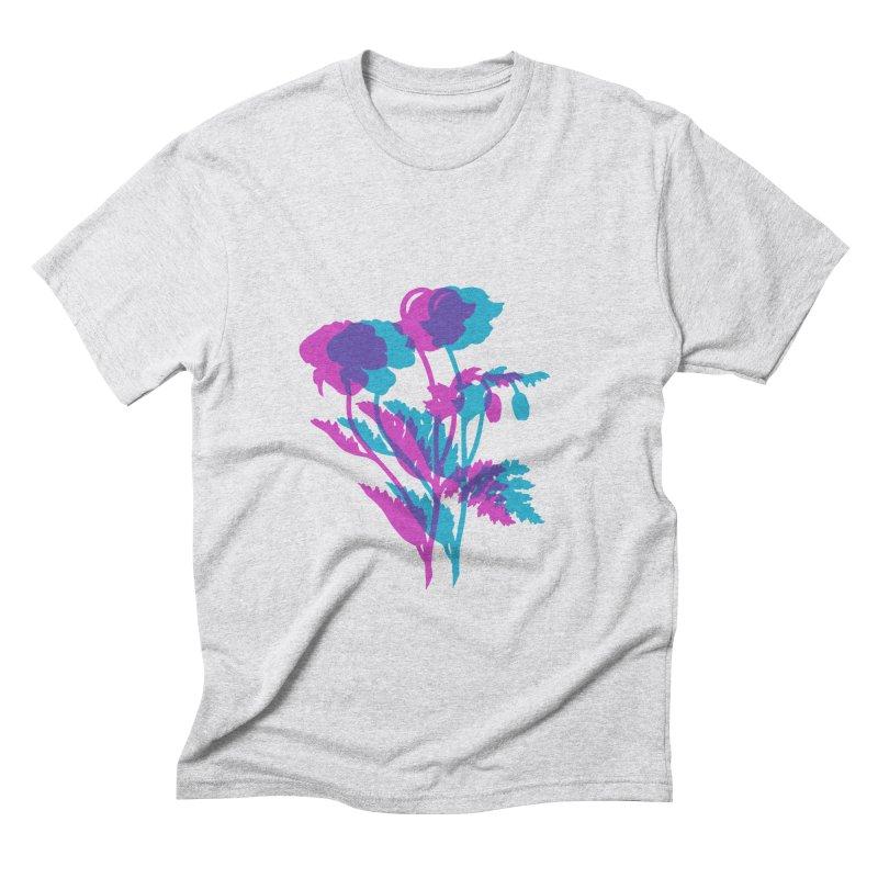 poppies Men's Triblend T-shirt by Earthtomonica's Artist Shop