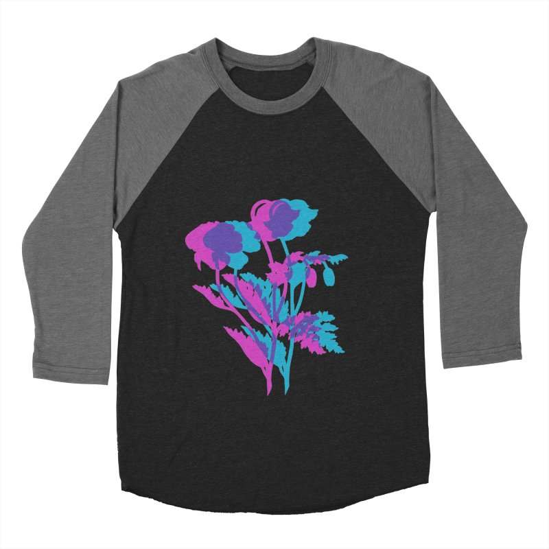 poppies Women's Baseball Triblend Longsleeve T-Shirt by EarthtoMonica