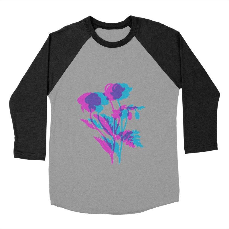 poppies Men's Baseball Triblend T-Shirt by Earthtomonica's Artist Shop