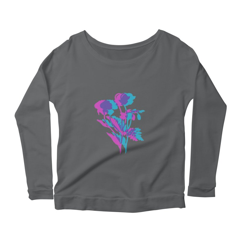 poppies Women's Longsleeve Scoopneck  by Earthtomonica's Artist Shop