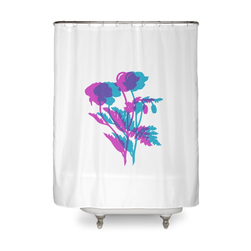 poppies Home Shower Curtain by Earthtomonica's Artist Shop