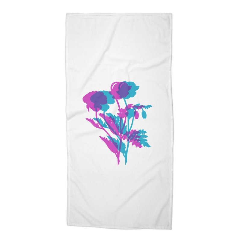 poppies Accessories Beach Towel by Earthtomonica's Artist Shop
