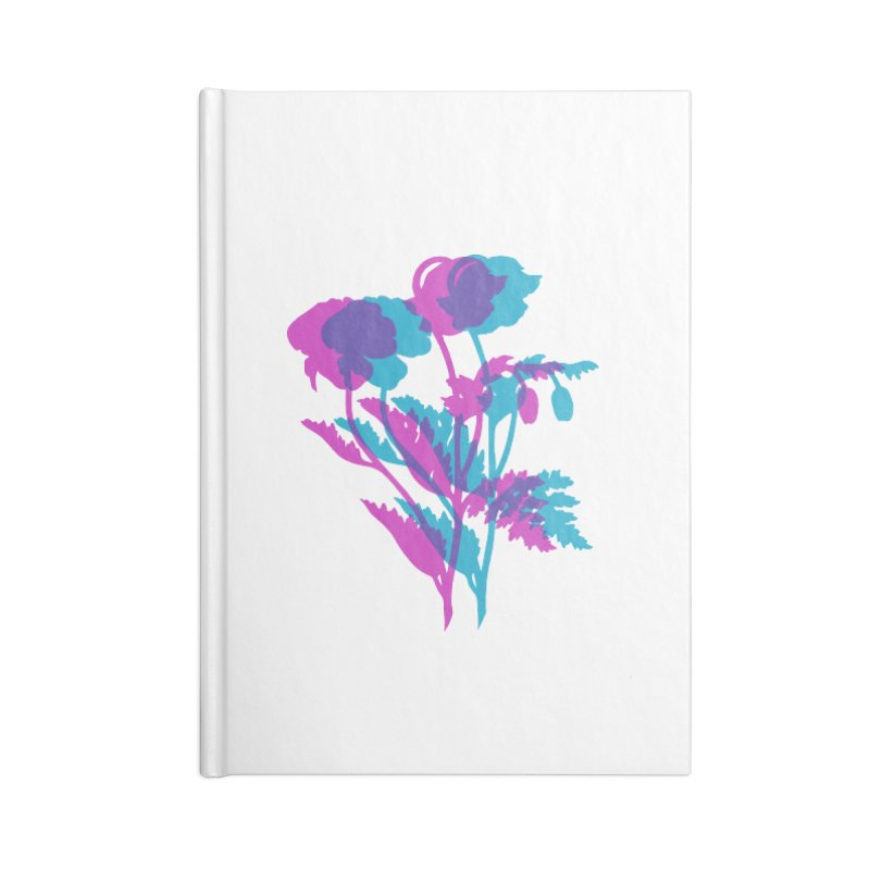 poppies Accessories Lined Journal Notebook by EarthtoMonica