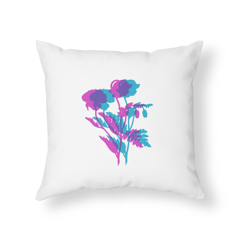 poppies Home Throw Pillow by Earthtomonica's Artist Shop