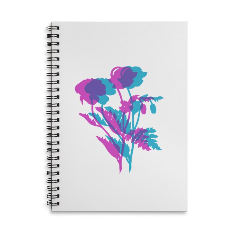poppies Accessories Lined Spiral Notebook by EarthtoMonica