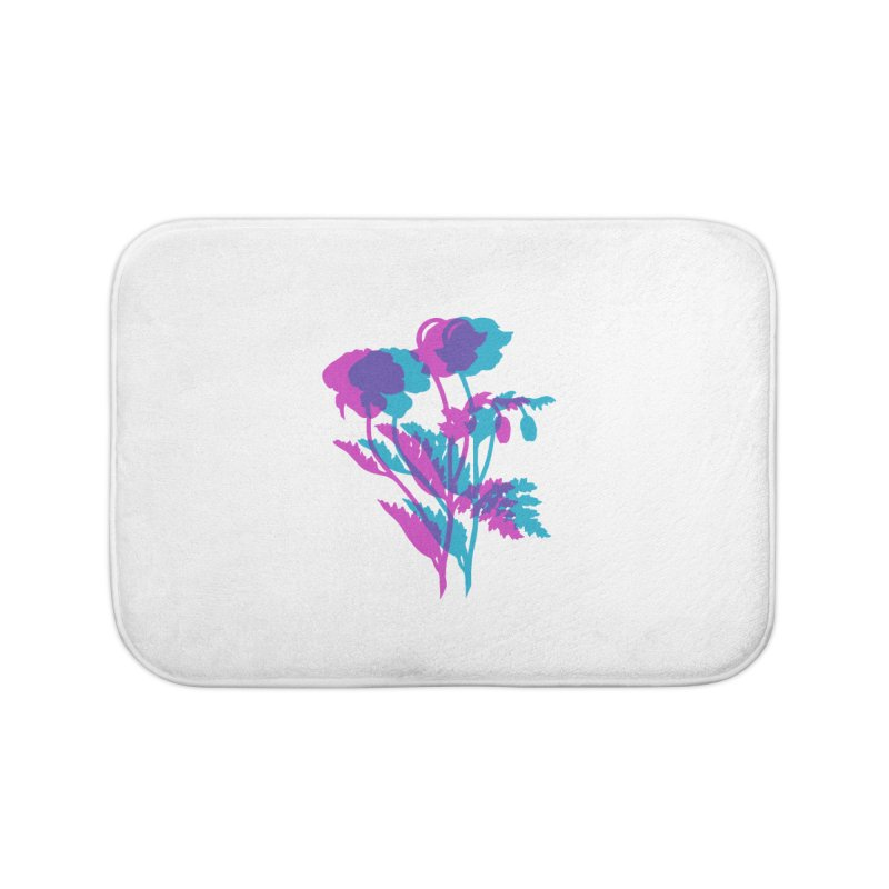 poppies Home Bath Mat by EarthtoMonica