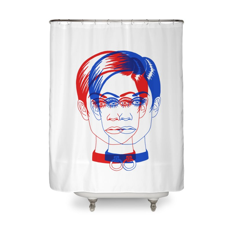 double twiggy Home Shower Curtain by Earthtomonica's Artist Shop