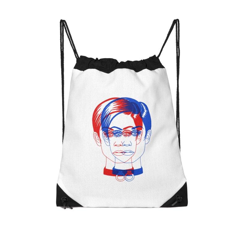 double twiggy Accessories Drawstring Bag Bag by EarthtoMonica
