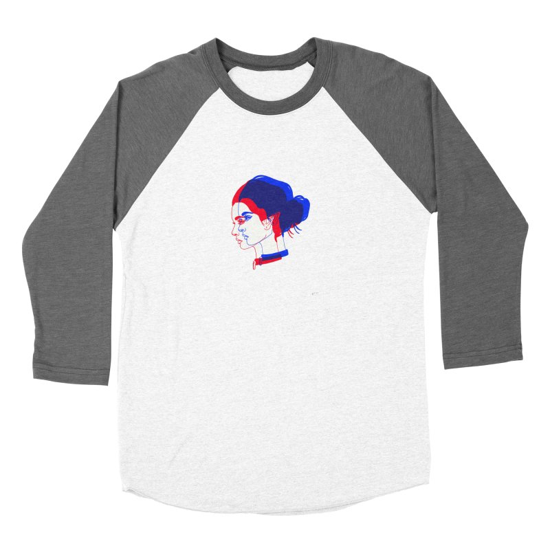 red and blue bun babe Women's Longsleeve T-Shirt by EarthtoMonica