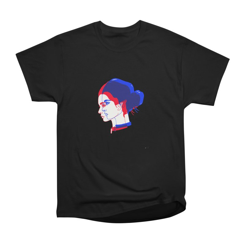 red and blue bun babe Men's Heavyweight T-Shirt by EarthtoMonica