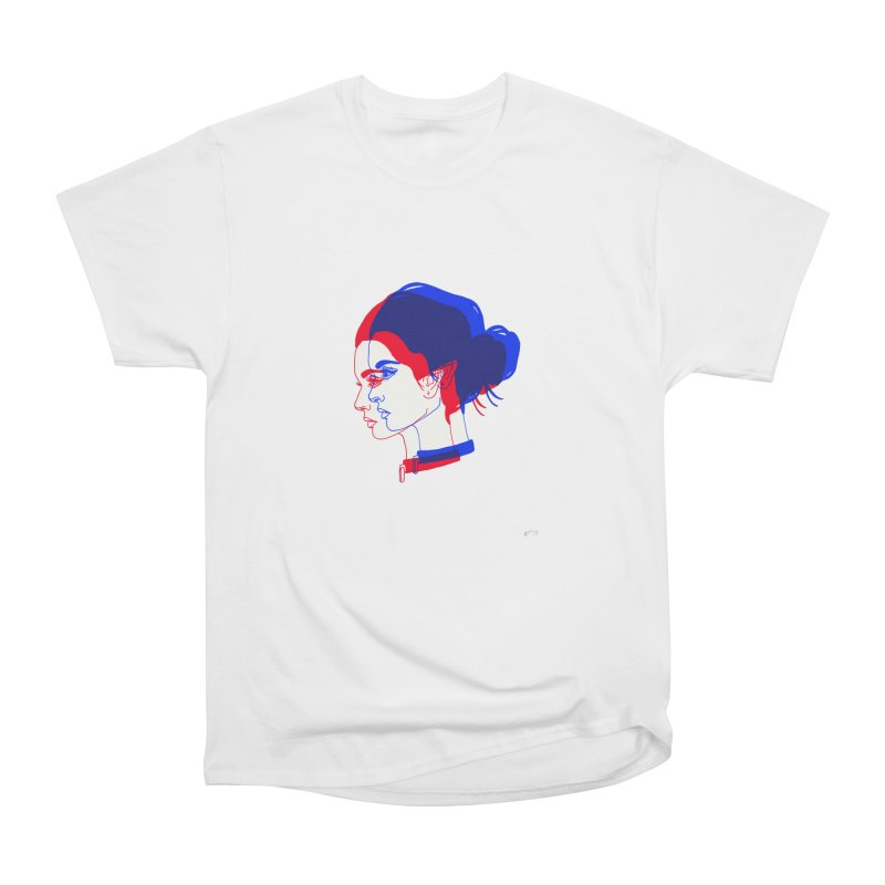 red and blue bun babe Women's Classic Unisex T-Shirt by Earthtomonica's Artist Shop