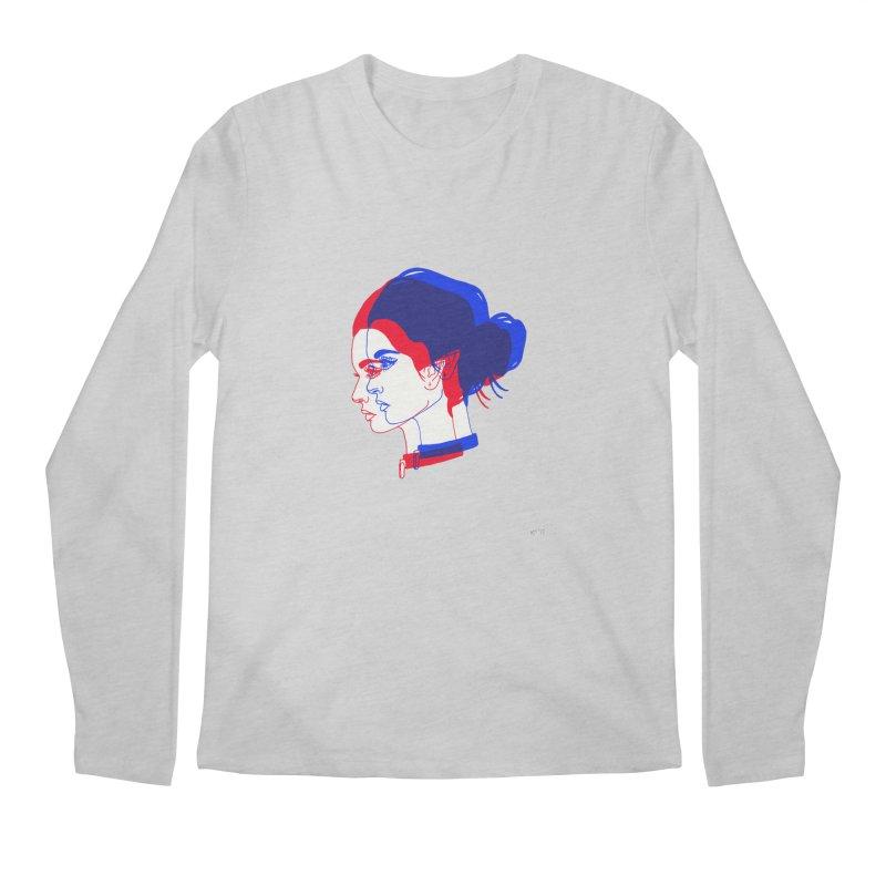 red and blue bun babe Men's Regular Longsleeve T-Shirt by EarthtoMonica