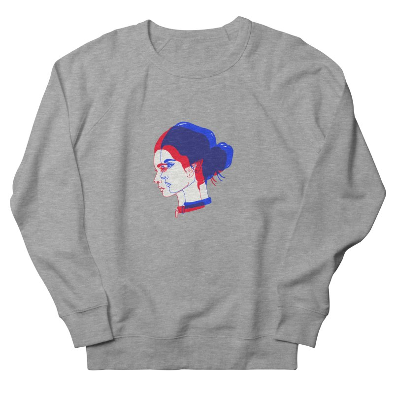 red and blue bun babe Women's French Terry Sweatshirt by Earthtomonica's Artist Shop