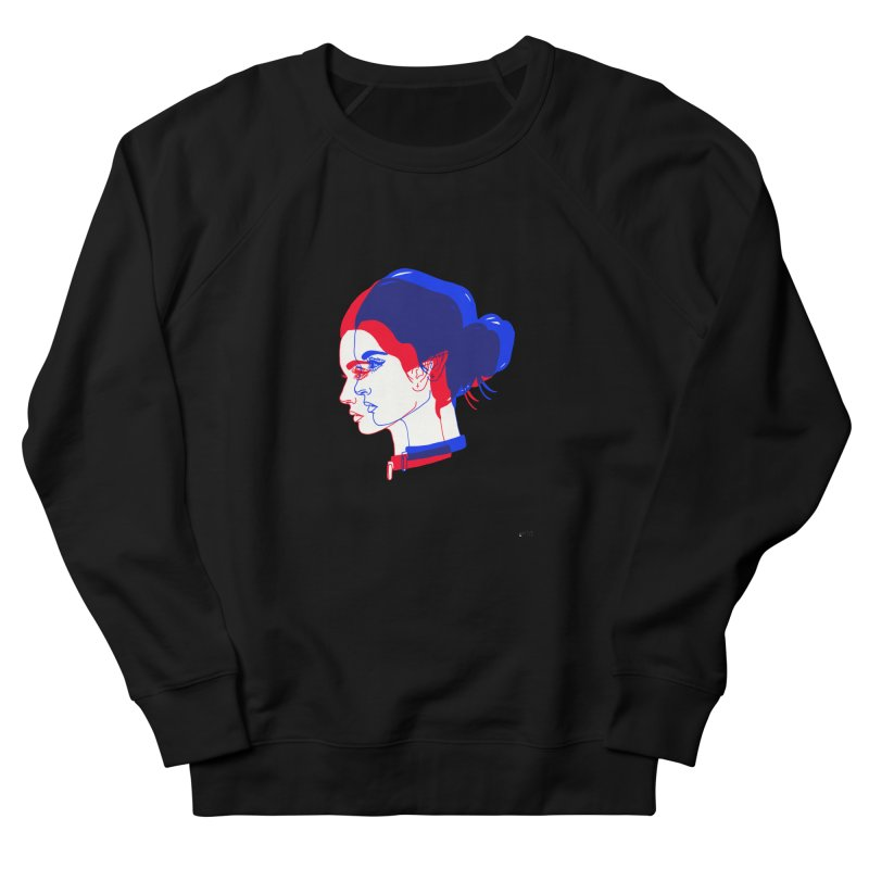 red and blue bun babe Women's Sweatshirt by Earthtomonica's Artist Shop