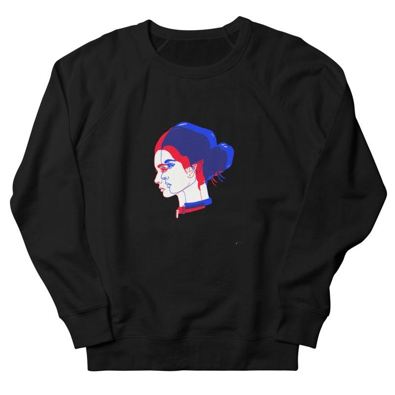 red and blue bun babe Men's Sweatshirt by Earthtomonica's Artist Shop