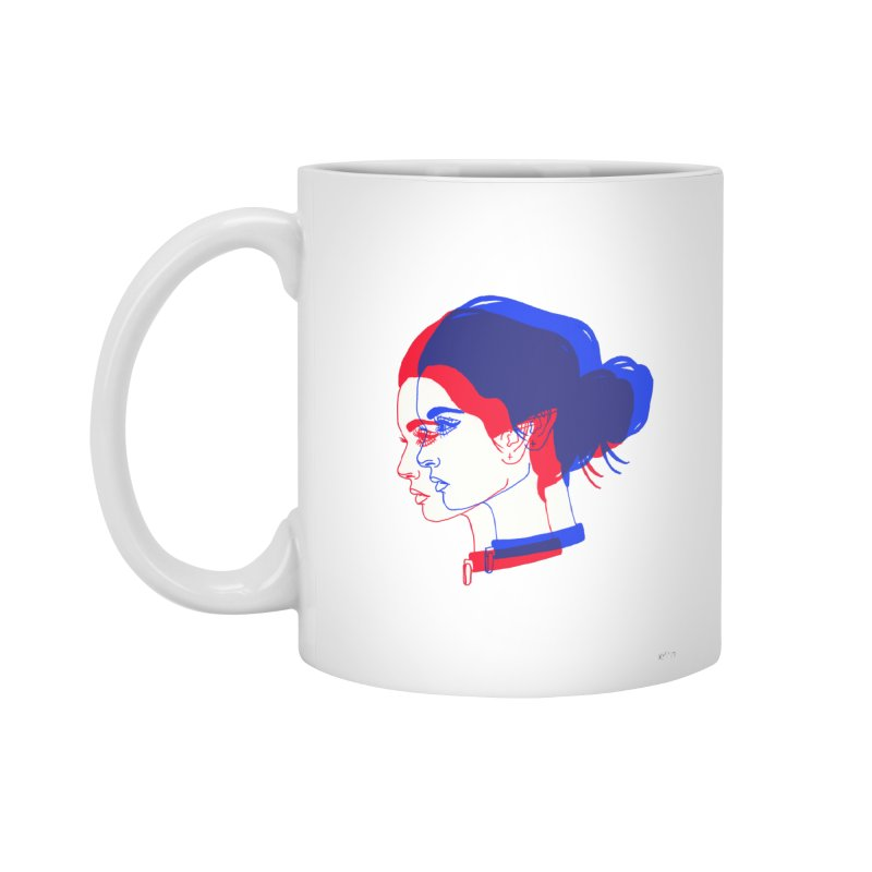 red and blue bun babe Accessories Mug by Earthtomonica's Artist Shop
