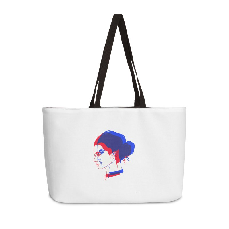 red and blue bun babe Accessories Weekender Bag Bag by EarthtoMonica