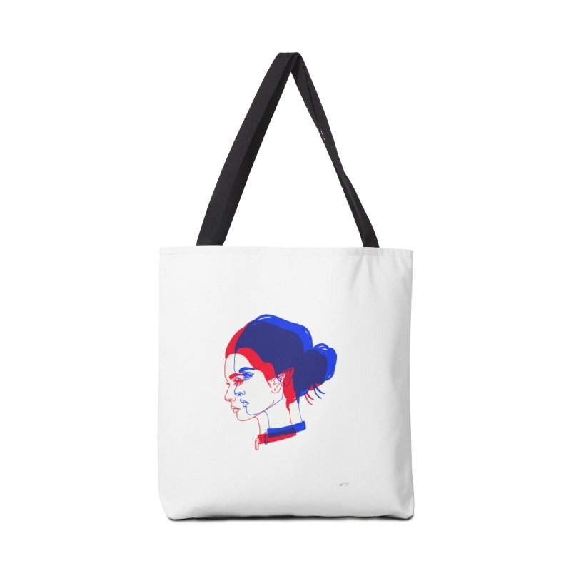 red and blue bun babe Accessories Bag by Earthtomonica's Artist Shop