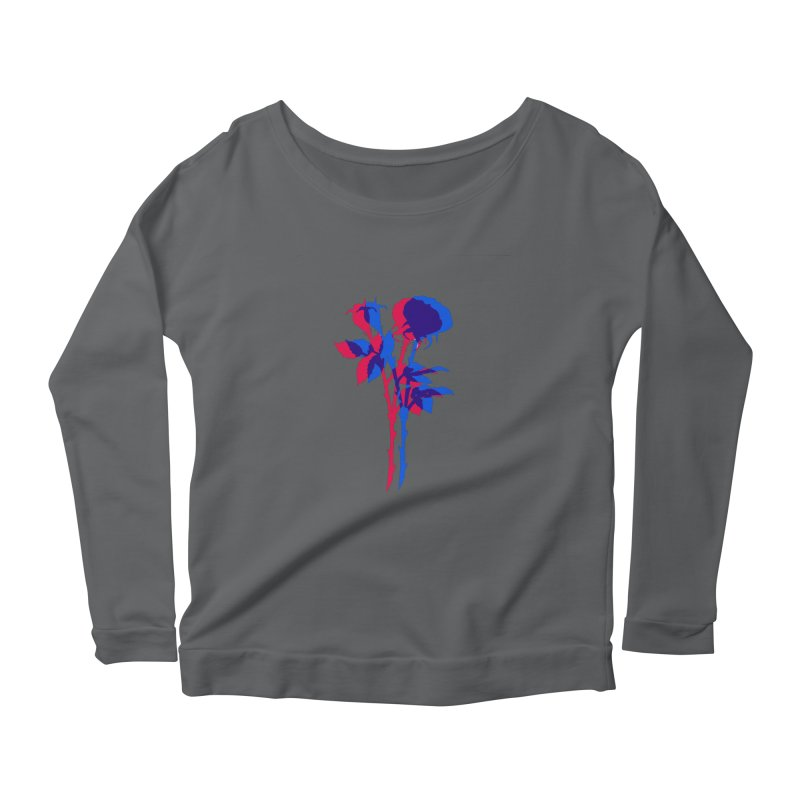 double rose Women's Longsleeve T-Shirt by EarthtoMonica