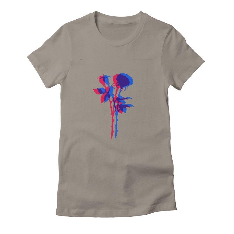 double rose Women's T-Shirt by EarthtoMonica