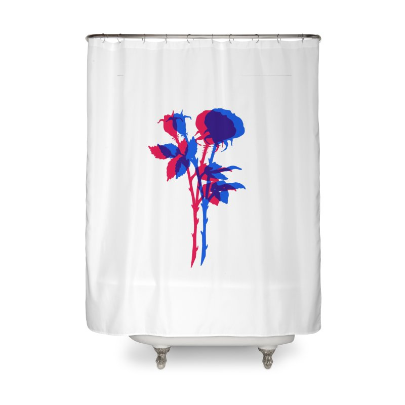 double rose Home Shower Curtain by Earthtomonica's Artist Shop
