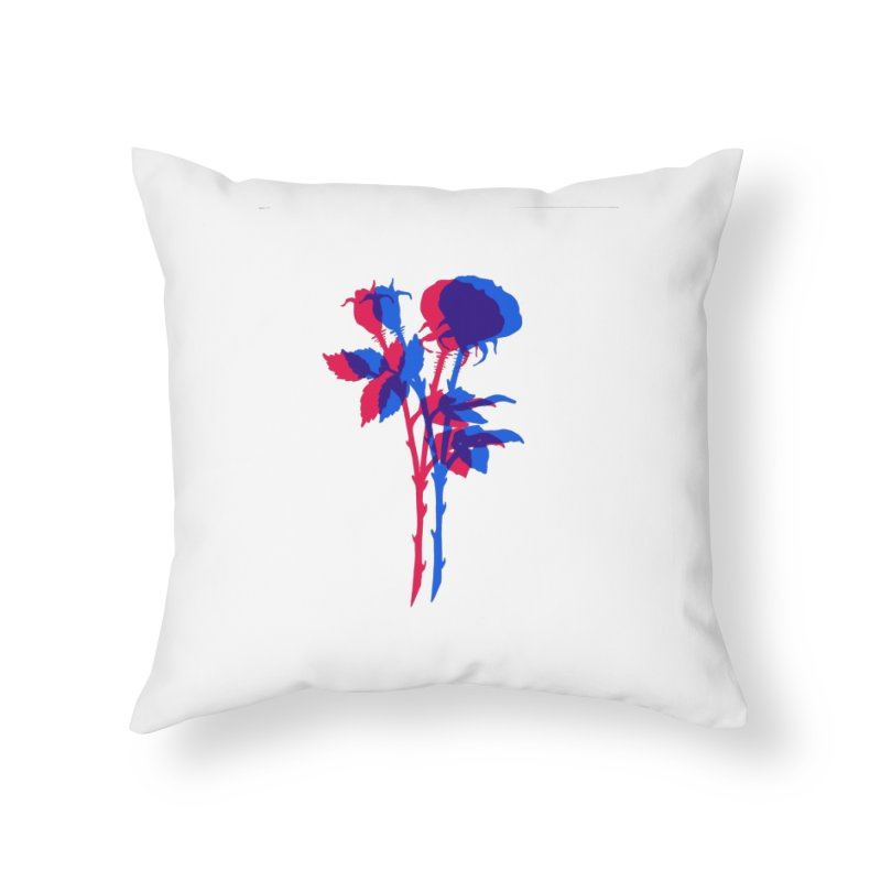double rose Home Throw Pillow by EarthtoMonica