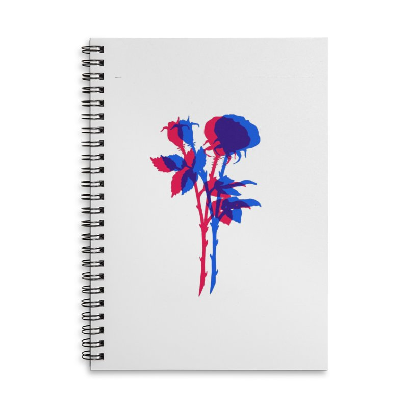 double rose Accessories Lined Spiral Notebook by EarthtoMonica
