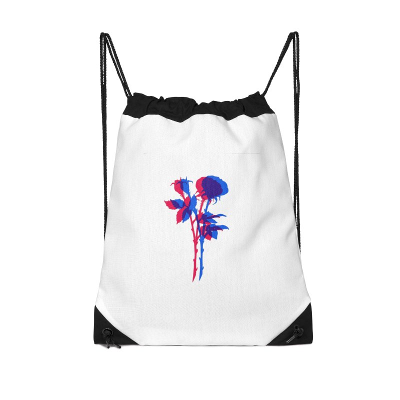 double rose Accessories Drawstring Bag Bag by EarthtoMonica