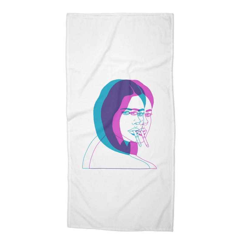 I'd rather be asleep right now Accessories Beach Towel by Earthtomonica's Artist Shop